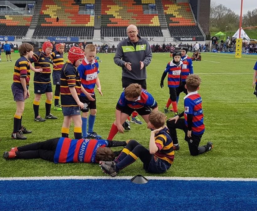 Canvey Rugby Saracens Pitch Action